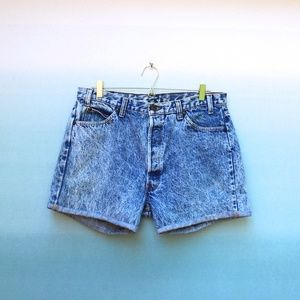 Vintage High Rise Acid Wash Mom Jean Shorts Sz 38